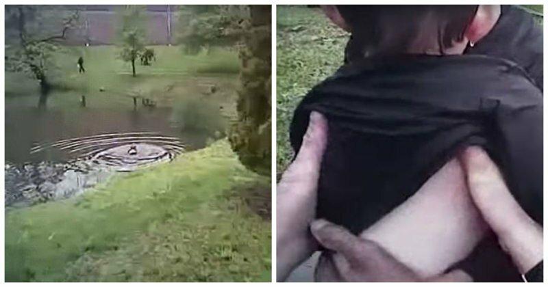 Полицейский спас аутичного мальчика, упавшего в пруд