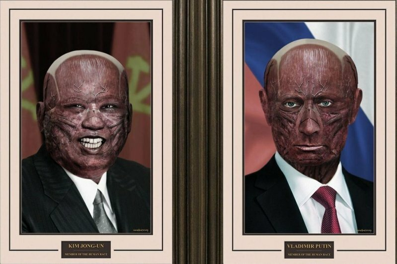 Внутри все мы одинаковые: как мировые лидеры выглядели бы без кожи