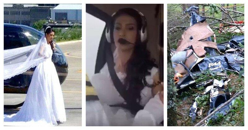 Фотограф сняла последние минуты жизни невесты, летевшей к алтарю на вертолёте