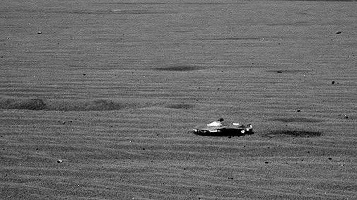 На Марсе обнаружен разбившийся корабль пришельцев