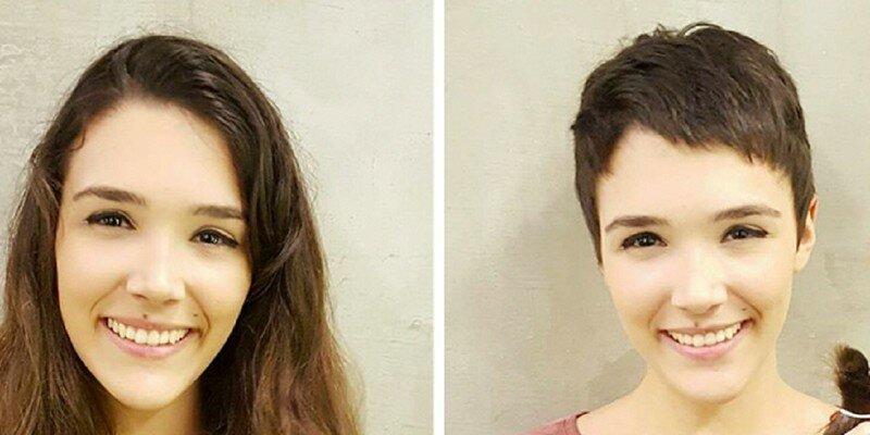 Экстремальные стрижки: до и после