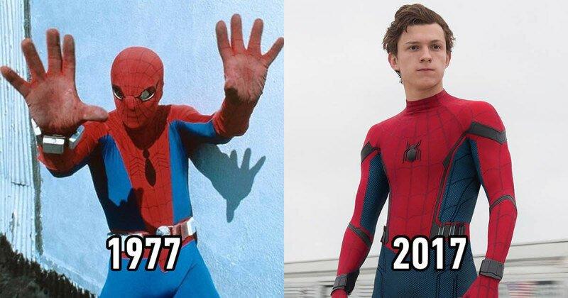 Легендарные супергерои тогда и сейчас