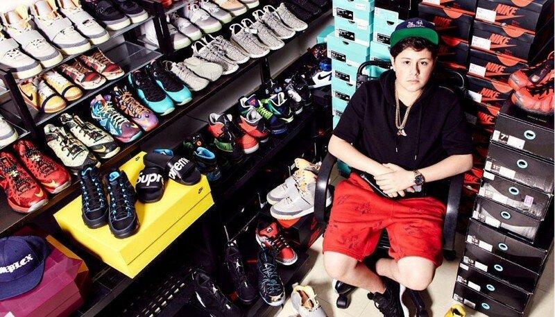 16-летний предприниматель построил бизнес на кроссовках