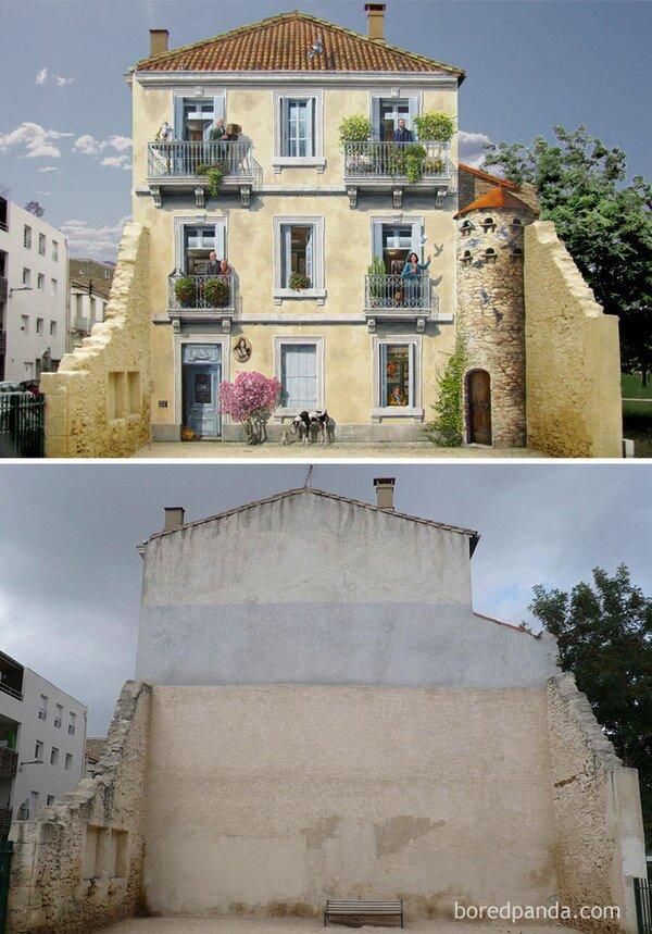 Превращение скучных городских пейзажей в настоящие галереи под открытым небом
