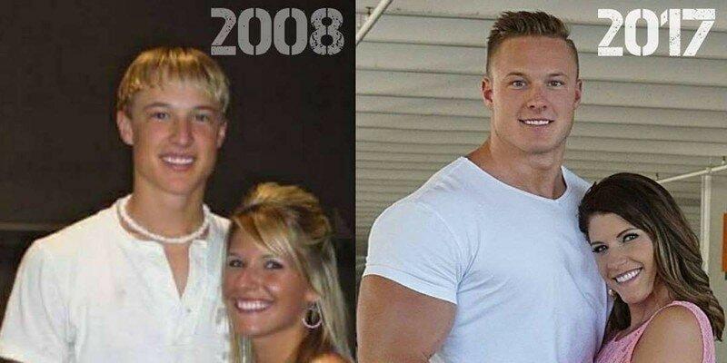 Он превратился из тощего подростка в гору мышц и выражает признательность за это своей жене