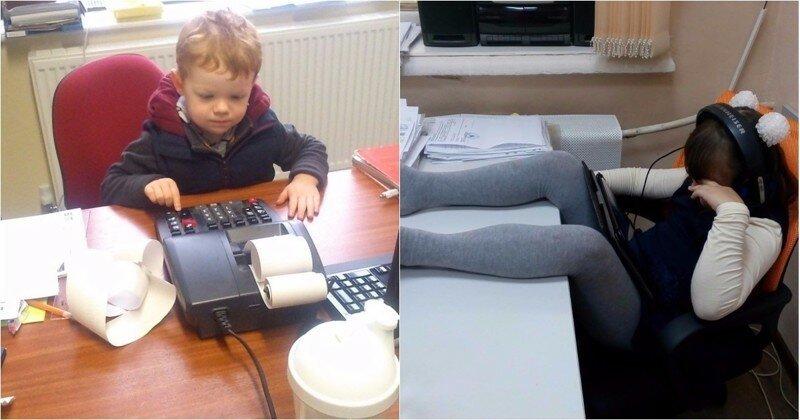 Я сегодня взял ребенка на работу: директор предложил премию, чтобы я увел его обратно