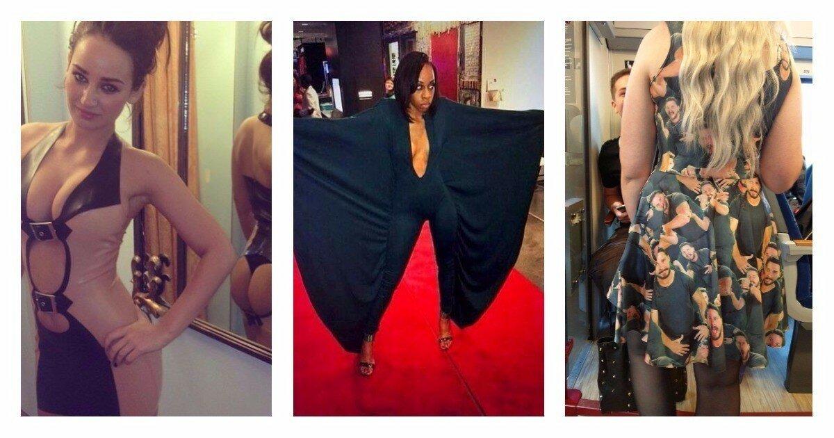 Девушки, которые неудачно выбрали платья