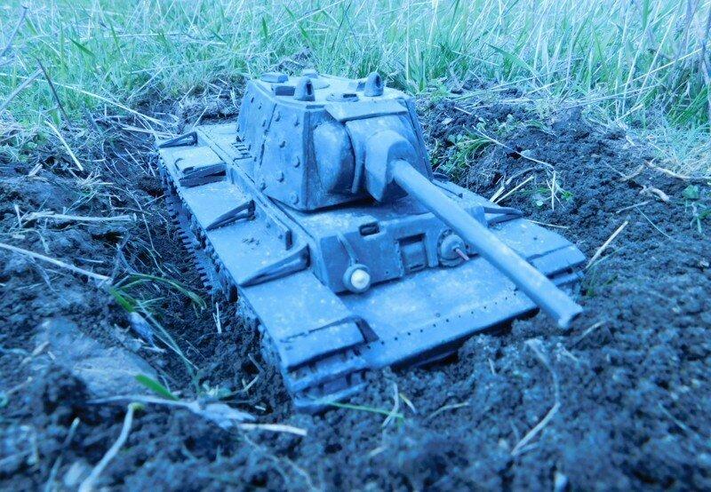 Танк из пластилина, КВ-1 Подвиг Колобанова