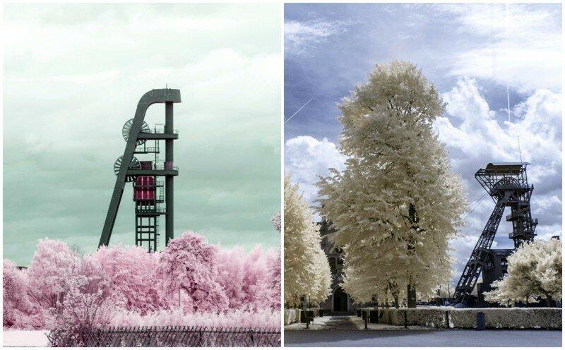 Индустриальная красота Германии: завораживающие инфракрасные фото