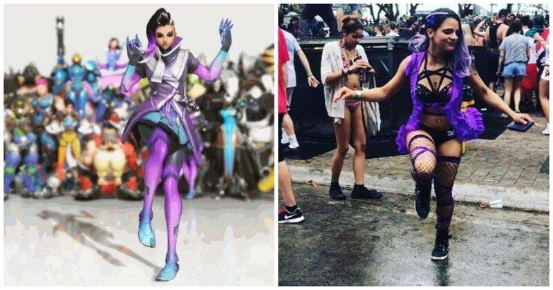 Косплеерша Сомбры из «Overwatch» зажигательно танцует шаффл