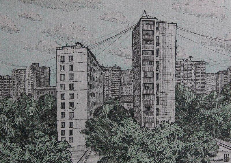 Городские задворки глазами художников