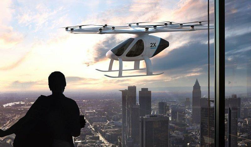 В Дубае тестируют летающее такси Volocopter 2X