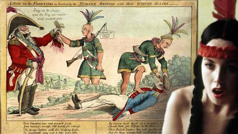 Как индейцев учили скальпы снимать