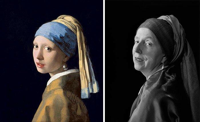 Удивительное воссоздание знаменитых картин в исполнении 66-летней женщины