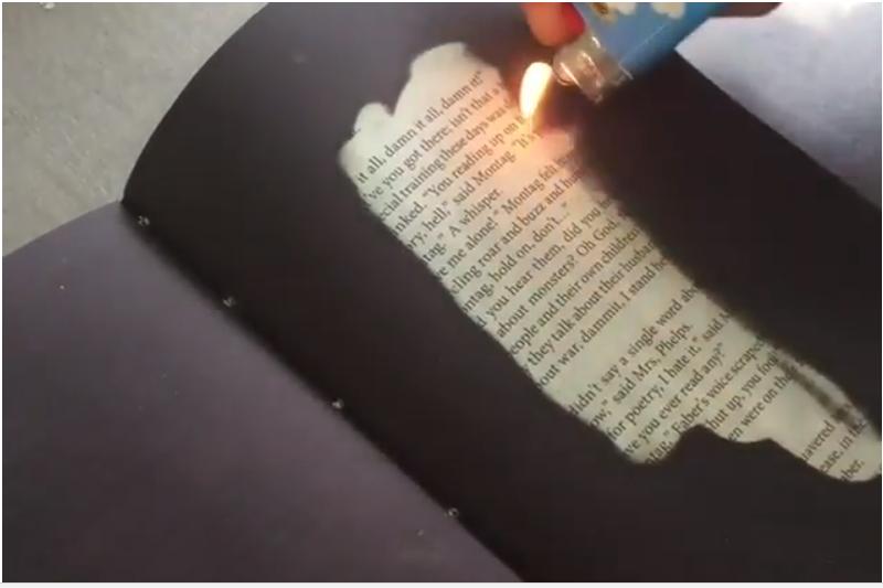 Создана книга, которую перед прочтением надо «сжечь»