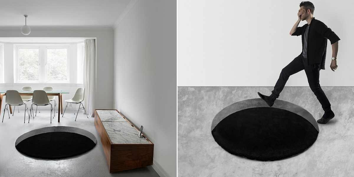 Эти необычные коврики создают иллюзию зияющей черной дыры