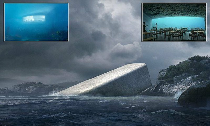 В Европе откроется первый подводный ресторан
