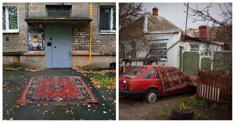 Невероятные приключения ковров в России: 29 фото, подтверждающих креативность русских людей