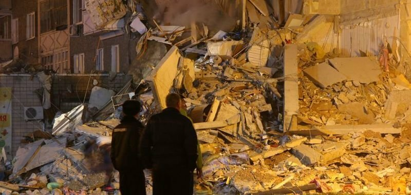 Взрыв бытового газа в Ижевске. Обрушение дома