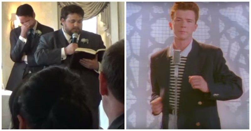 Друг жениха использовал текст песни-мема Рика Эстли «Never Gonna Give You Up» в качестве свадебной речи