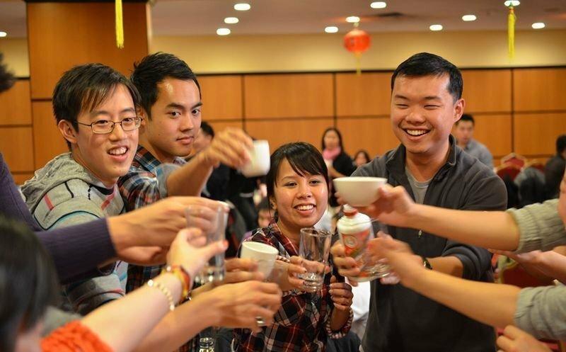 Алкогольные посиделки в Китае