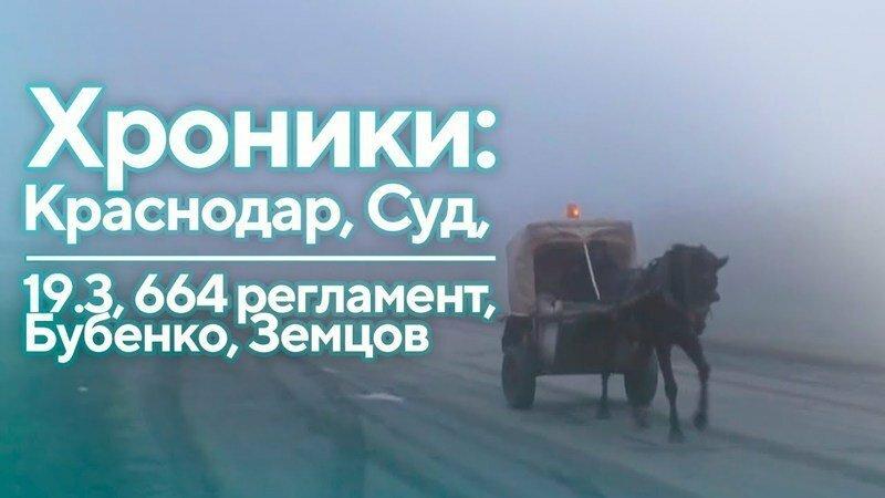 Хроники: Краснодар, Суд, 19.3, 664 регламент, Бубенко, Земцов