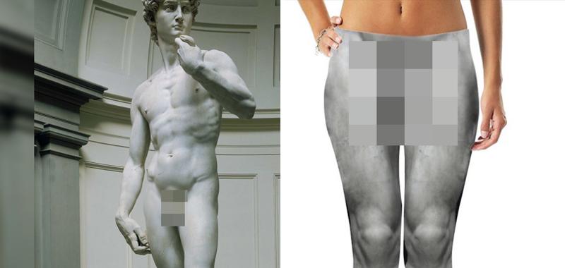 Это полная жесть: Леггинсы и шорты с принтом причинных мест статуи Давида Микеланджело