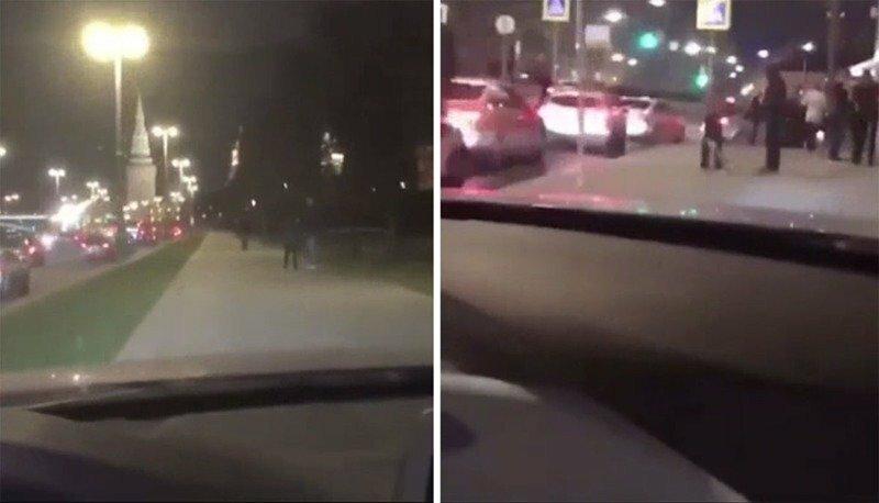 Мажор на BMW катался по тротуару у самого Кремля