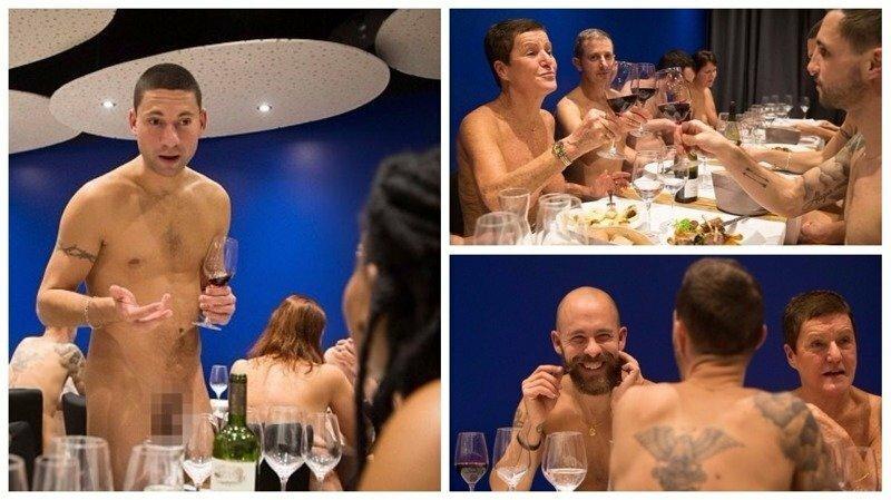 Фоторепортаж из парижского ресторана для нудистов