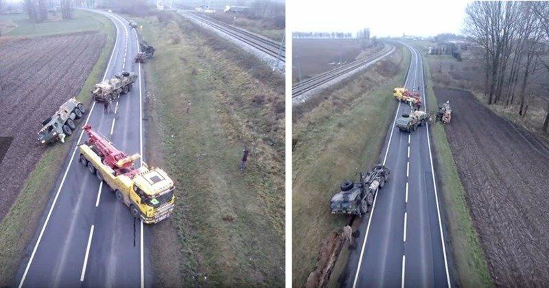 Американская военная техника увязла в польских дорогах