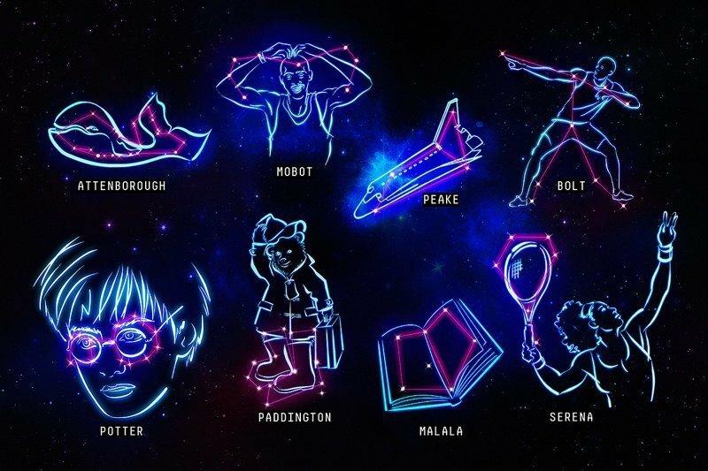 Учёные придумали новые созвездия с культовыми личностями, чтобы заинтересовать детей астрономией