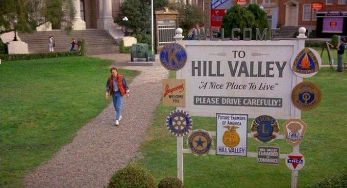 Хилл-Вэлли тогда и сейчас