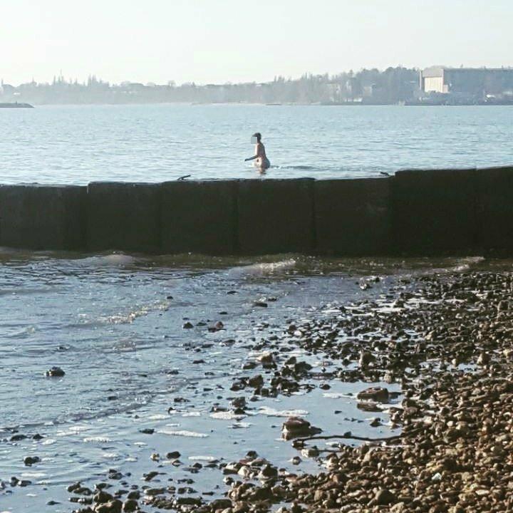 Купающаяся голая женщина удивила жителей Ростовской области