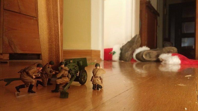 Военные в доме