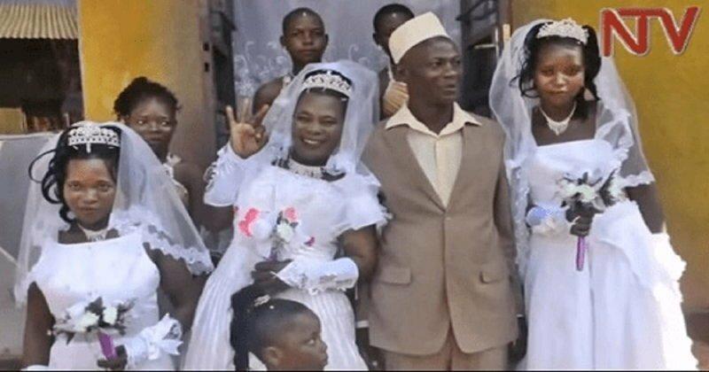 Жених года: 50-летний угандиец в один день женился на трех женщинах, двое из которых – сестры