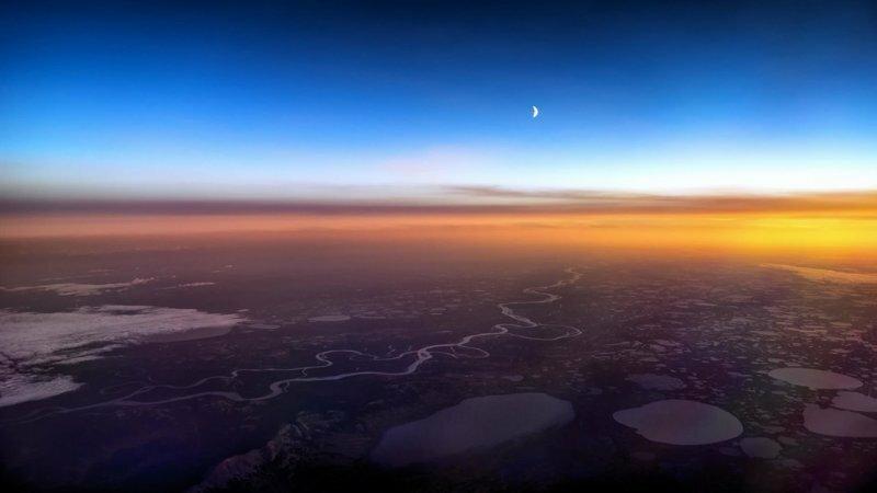 """Потрясающие снимки из кабины пилота """"Боинга"""""""