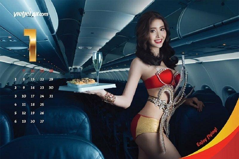 """Вьетнамская авиакомпания выпустила """"бикини-календарь"""""""