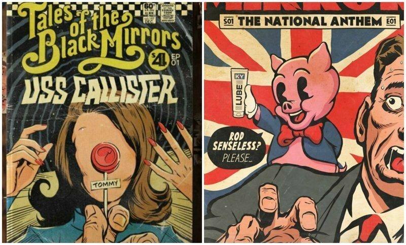 """""""Чёрное зеркало"""": художник нарисовал винтажные комиксы к каждому эпизоду сериала"""