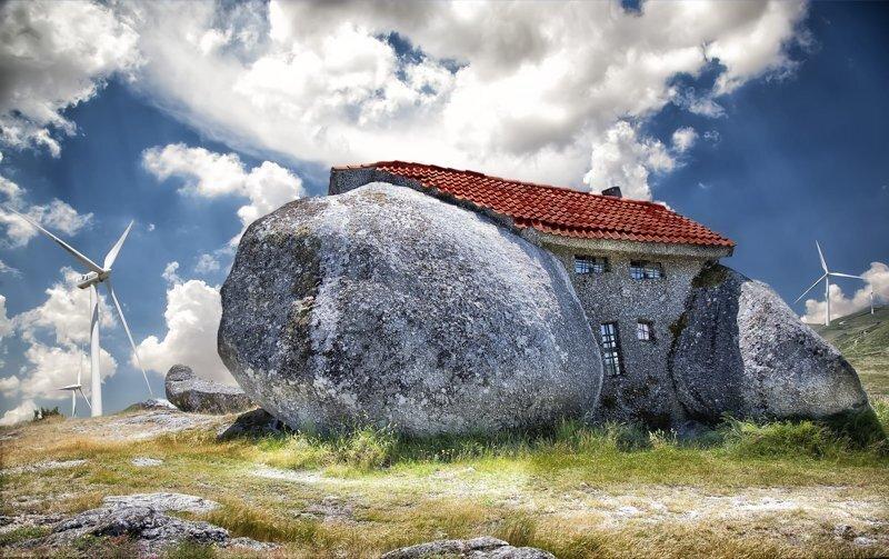 Дома, выдолбленные в скалах и камнях