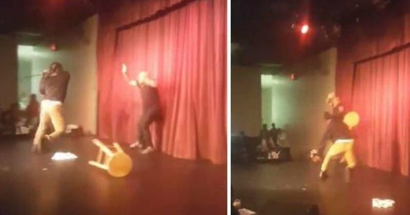 В США один из зрителей напал на комика прямо во время выступления