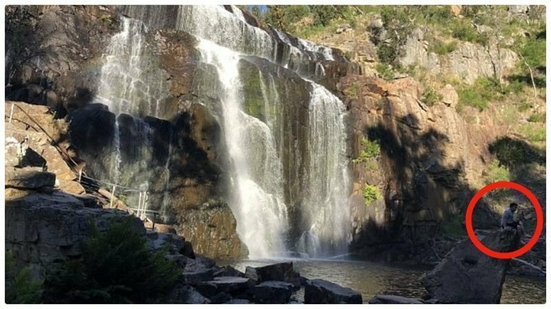 Трагедия на водопаде случайно попала на камеру