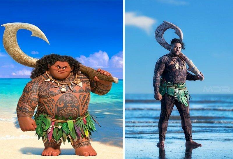Американец сделал косплей на здоровяка Мауи из «Моаны»