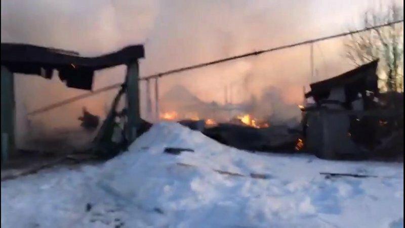 В Свердловской области сгорел дом Ельцина