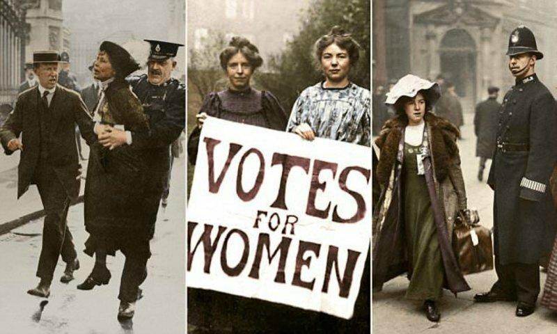 Английские суфражистки: уникальные колоризированные фото борцов за права женщин