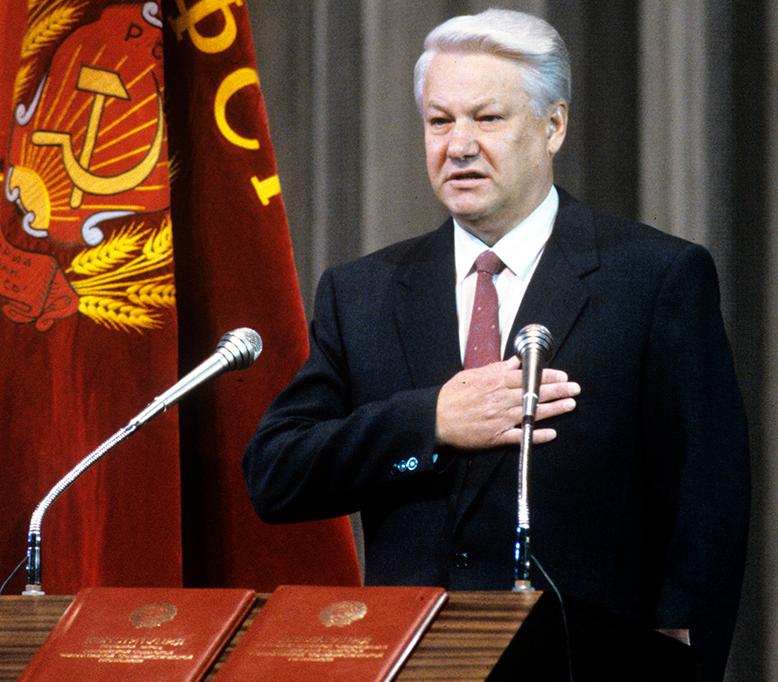 Сенсационная речь Б. Ельцина в конгрессе США, которая была запрещена к показу по ТВ