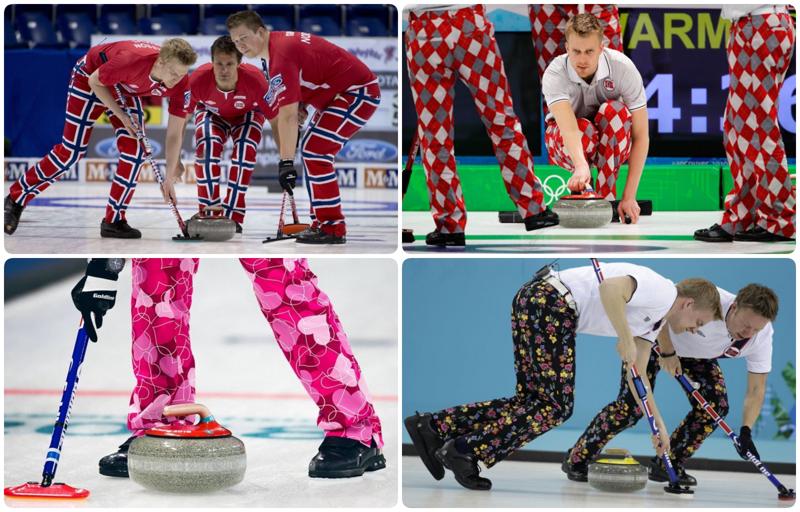 Не цирк, а Олимпиада: безумные штаны норвежской сборной по керлингу