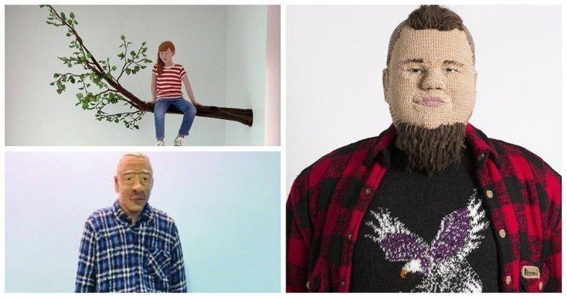 Вязаные люди от художницы из Финляндии