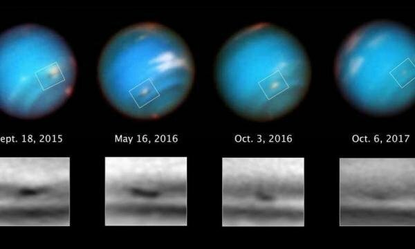 "Телескоп ""Хаббл"" запечатлел гигантский умирающий шторм на Нептуне"