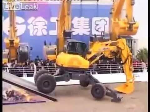 Китайский экскаватор