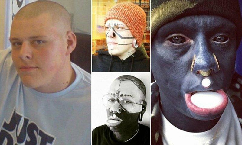 Одержимый тату-мастер забил татуировками всё тело, полость рта и глазные яблоки